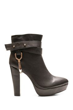 Wrap around ankle strap with gold-tone hardware details