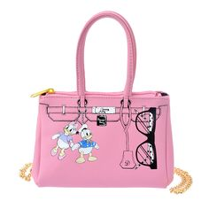 Donald & Desi pink pouch from Japan Disney Store
