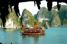 Asian Travel: Cruising along Halong Bay, Vietnam.     If you want to travel and charter a boat anywhere in the world, let www.SailChecker.com scan the market for you.