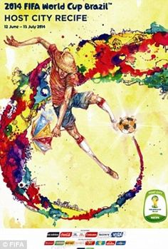 799e513bd94 FIFA 2014 World Cup Brazil Host City Posters i like the styleヽ(  ∀ )ノ
