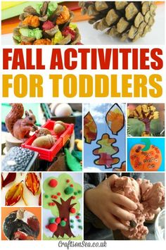 Easy fall crafts for toddlers perfect for preschool or pre-k
