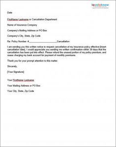 insurance sample cancellation letter  Reservation Cancellation Letter - Reservation cancellation letters ...