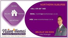 I would like to offer my Professional Service to assist you in Marketing your Property!NORTHERN SUBURBSWe Assist with the following....- Bond Approvals- Selling- Buying- Renting- Free ValuationsWe have your best interest at heart!!!Contact me today!Melville Van EdenPhone/Whatsapp: 079 397 1453
