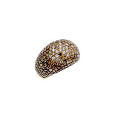 Ring made of gold with white, black and brown diamonds Brown Diamonds, Black And Brown, Rings, Gold, Ring, Jewelry Rings, Yellow