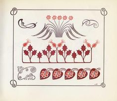 Ornamental Combinations, Plate 54 (1901) by Alphonse Mucha, Paris