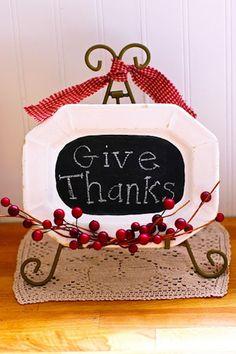 #DIY Thanksgiving Chalkboard Platter