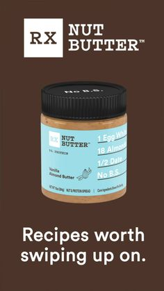 With RX Nut Butter, there are endless ways to boost your favorite recipes. It's your way, any time of the day. Almond Butter Smoothie, Peanut Butter Banana, Healthy Foods, Healthy Life, Healthy Recipes, Dopamine Diet, Mini Banana Muffins, Smeg Kitchen, Almond Yogurt