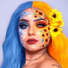 Are you looking for ideas for your Halloween make-up? Check this out for cute Halloween makeup looks. Cool Makeup Looks, Crazy Makeup, Cute Makeup, Gorgeous Makeup, Pretty Makeup, Makeup Art, Makeup Ideas, Makeup Tips, Amazing Makeup