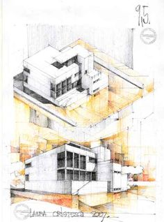 Horia creanga by ~samidare-jin on deviantart architecture sketchbook, amazing architecture, architecture Architecture Concept Drawings, Architecture Sketchbook, Architecture Drawings, Amazing Architecture, Architecture Details, Architecture Presentation Board, Building Painting, Interior Sketch, Design Museum