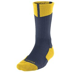 Nike Air Jordan Dri-FIT Crew Basketball Socks - Navy / Yellow - Comes in various colors