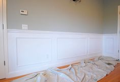 DIY picture frame wainscoting