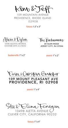 return address font pairing