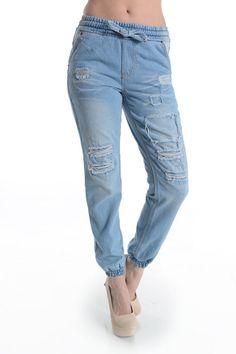 Hott Denim Bleach Destroyed Jogger Pants! Plus Size! #UASpringSummerCollection2015 #Jogger