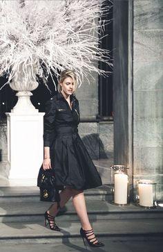 Look raffiné pour une élégante soirée à Milan : Sofie Valkiers en Ralph Lauren Collection