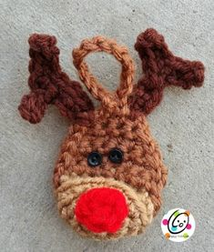 Mini Reindeer Ornament with Mini Button Eyes