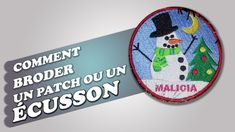 Comment broder un ecusson (et une déco de noël) Pe Design, Design Youtube, Couture, Embroidery Techniques, Patch, Machine Embroidery, Needlework, Motifs, Appliques