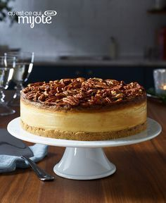 Pecan Pie Cheesecake - Must Have Desserts - No Bake Cherry Cheesecake, Cheesecake Recipes, Mini Pecan Pies, Pecan Pie Filling, Kraft Recipes, Desert Recipes, I Love Food, Delicious Desserts, What's Cooking