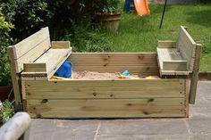 Fantastic DIY sand pit ideas for small gardens Outdoor Toys, Outdoor Fun, Outdoor Decor, Garden Bugs, Sand Pit, Water Play, Sandbox, Small Gardens, Cool Toys