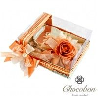www.chocobon.ae Silver Candle Peach Box