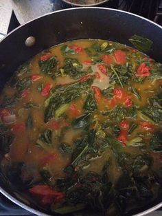 """My famous """"GIVE IT UP""""GREENS done Vegetarian style. These are ALWAYS a hit at my parties and get togethers. So good!"""