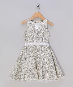Love this Violet Flower Hepburn Dress - Toddler & Girls by La faute à Voltaire on #zulily! #zulilyfinds