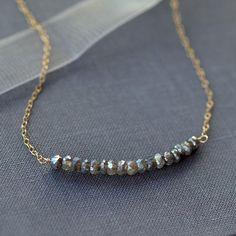 Collier labradorite collier de rangée de pierres par ShopClementine