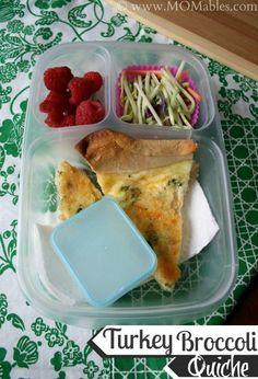 Easy Turkey Broccoli Quiche Recipe #lunch #recipes #ideas #kids