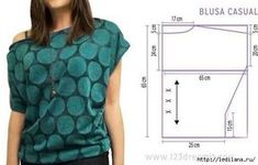 Simple pattern of a blouse t-shirt