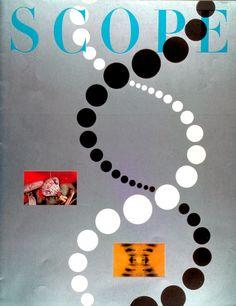 - Scope Magazine cover by Will Burtin / 1957 Sean Adams, Circle Game, Intelligence Service, Design Fields, Dots Design, Vintage Books, Graphic Design Inspiration, Cover Design, Cover Art