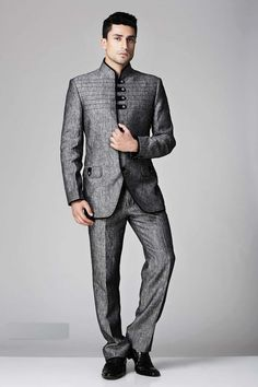 Light #brown italian #dashing slim fit #suit with mandarin collar ...