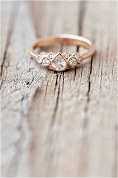 Luxury rose gold engagement ring vintage for your perfect wedding (154)