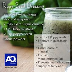 Poppy seed dressing #food #health #aqmedicare