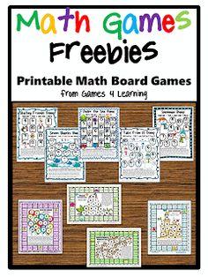 Math games: Tons of FREE math math board games packets! Math Tutor, Teaching Math, Math Math, Math Fractions, Multiplication Games, Math Education, Teaching Tools, Math Board Games, Math Boards