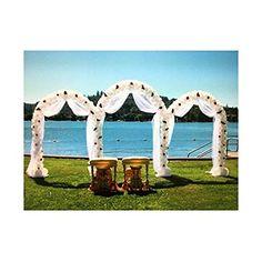GZYF 7.9 Ft Garden Arbor Archway Green Metal Wedding Party Garden Arch 240 cm