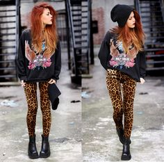 Love those cheetah print pants | Tumblr