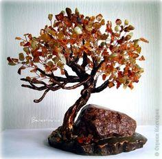 Деревья из камней  - мастер класс фото
