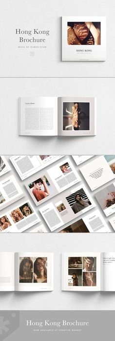 Minimalist brochure template, bright magazine design, editorial style for your brand. Great as a look book. Sleek and elegant. Letterhead Template, Indesign Templates, Brochure Template, Print Templates, Adobe Indesign, Layout Design, Book Design, Design Art, Design Elements