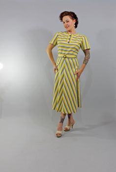 1940s Vintage DressWE MUST LIVE Summer Fashion by stutterinmama, $94.00 (the colors! THE COLORS!)