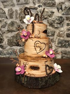 Woodland wedding cake my mom made [PHOTO ONLY] #baking #cooking #food #recipes #cake #desserts #win #cookies #recipe #cakes #cupcakes