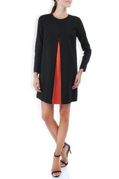 Rochie neagra croiala retro cu pliu corai Dresses For Work, Retro, Fashion, Moda, Fashion Styles, Retro Illustration, Fashion Illustrations