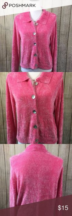 "Boston Proper Woman's Size S Soft Cardigan Top Boston Proper Woman's Size S Soft Cardigan Top or Sweater Hot Pink Button Up   Length: 21"" Underarm to underarm 21"" Sleeves 23 1/2"" Boston Proper Sweaters Cardigans"
