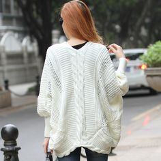 2013 spring autumn fashion sweet hemp flowers knitted loose crochet cutout sweater cardigan-in Cardigans from Apparel & Accessories on Aliexpress.com