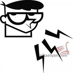 Stickers for Plugs & Switch Buttons>Dexter lab for sale from3.90  #wall #art #stickers #decal