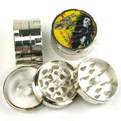 Mini No women No cry Bob Marley Design tobacco herb metal grinder, 3parts, #197 by PSR. $4.99