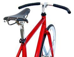 Dettaglio Bici BRN Cromovelata rossa