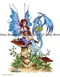 Fairy Art Artist Amy Brown: The Official Online Gallery. Fantasy Art, Faery Art, Dragons, and Magical Things Await. Elves Fantasy, Fantasy Dragon, Fantasy Art, Fantasy Fairies, Elfen Tattoo, Amy Brown Fairies, Dark Fairies, Dragons, Fairy Drawings