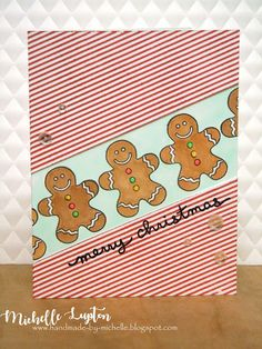 Handmade by Michelle: Challenge me a Christmas Card with Betty Keefe
