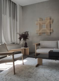 Danish and Japanese design merging into a sense of serenity. The Karimoku x Norm Architects exhibition at the Kinfolk Gallery during… Modern Japanese Interior, Asian Interior, Japanese Interior Design, Japanese Home Decor, Japanese House, Japanese Design, Contemporary Interior, Danish Interior, Interior Design Minimalist