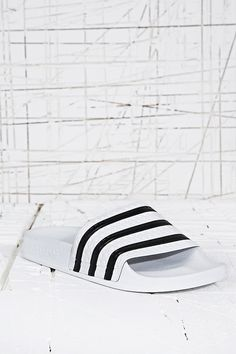 meet fd2cf 5959d Adidas Adilette Pool Sliders in White - Urban Outfitters Adidas Sandals, Nike  Shoes, Shoes