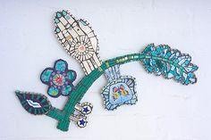 mosaic by Cleo Mussi Mosaic Wall Art, Mosaic Glass, Mosaic Tiles, Glass Art, Mosaic Artwork, Dna Kit, Stained Glass Designs, Broken China, China Art